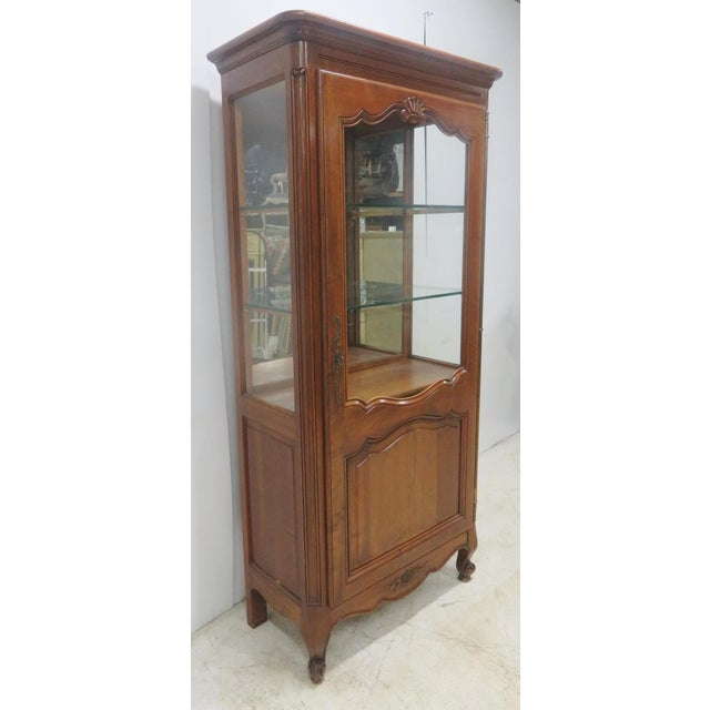 County French Cherry China Cabinet - Image 10 of 10