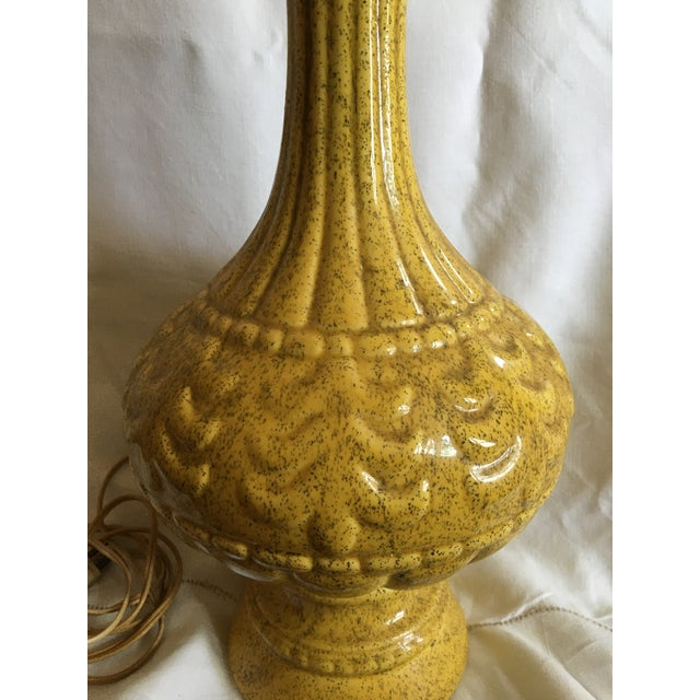 1950s 1950s Mid-Century Modern French Provence Yellow Lamp For Sale - Image 5 of 8