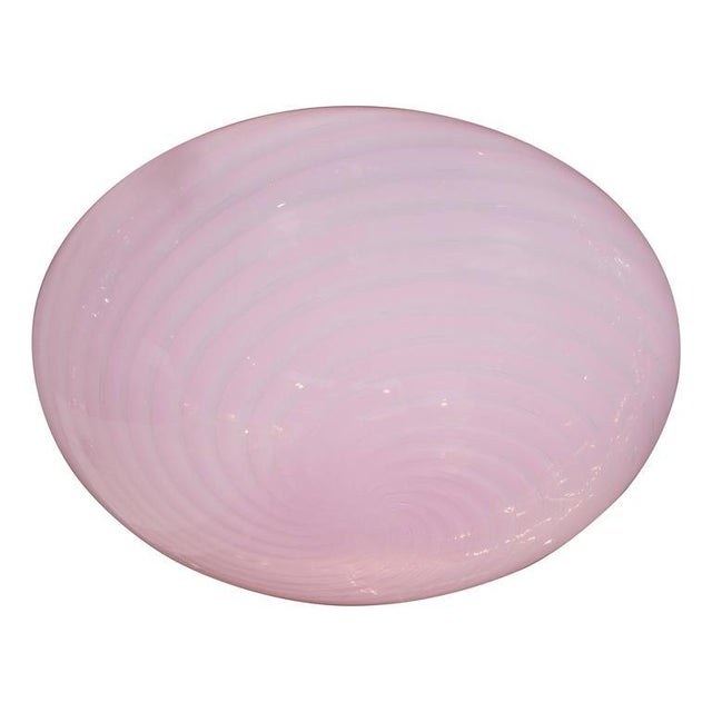 Glass Mid-Century Modernist Handblown Murano Glass Flush Mount by Barbini For Sale - Image 7 of 7