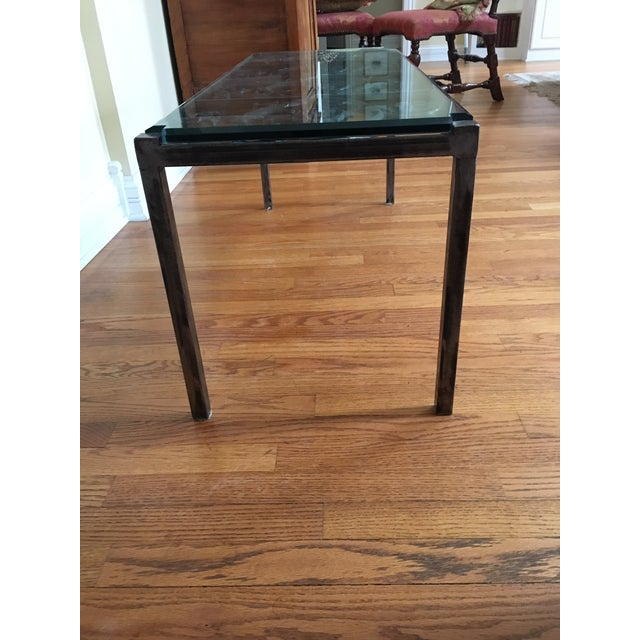 Boho Chic 19th Century French Iron and Glass Coffee or Accent Table For Sale - Image 3 of 9