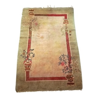 Art Deco Helen Fette Oriental Rectangular Floor Rug Medium For Sale