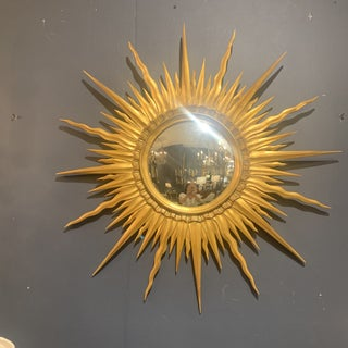 Gold Leaf Sunburst With Convex Mirror Preview