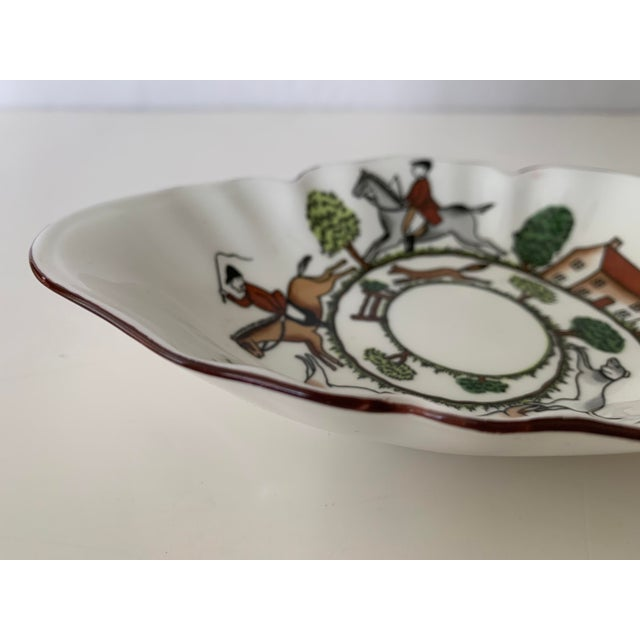 White Staffordshire Hunting Scene Bowl For Sale - Image 8 of 11