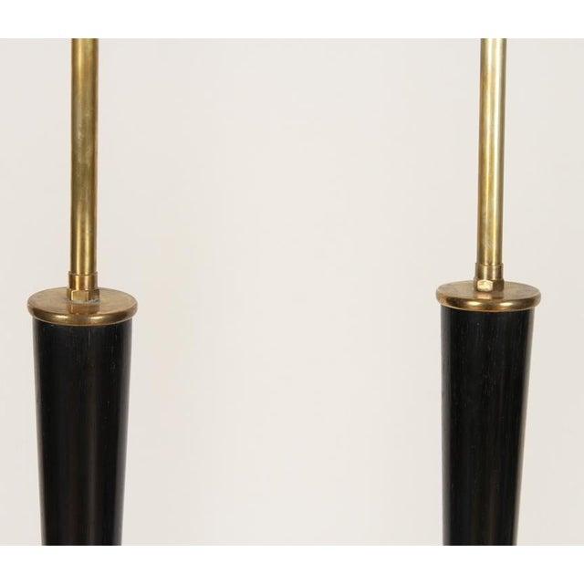 Metal Italian Ebonized Wood Floor Lamps For Sale - Image 7 of 10