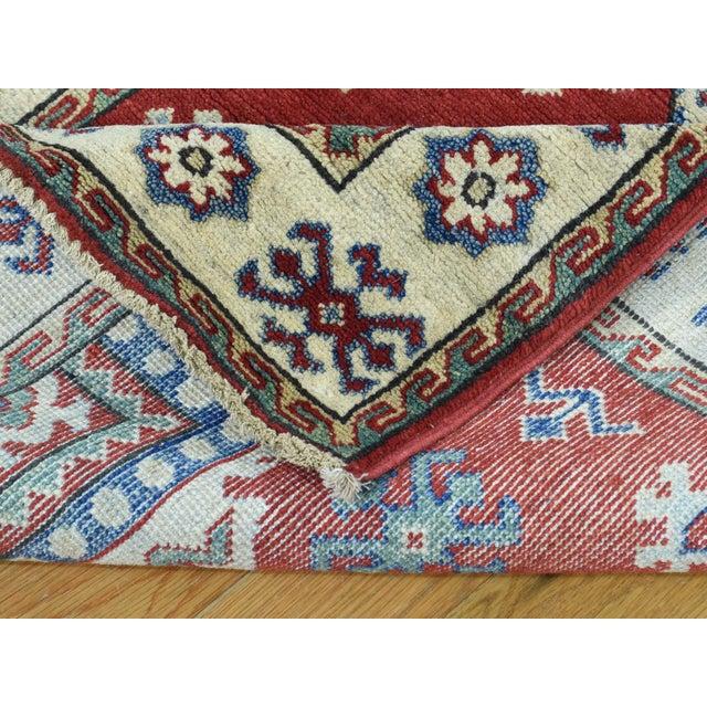Textile Wool Handmade Tribal Design Kazak Runner- 2′8″ × 9′9″ For Sale - Image 7 of 12