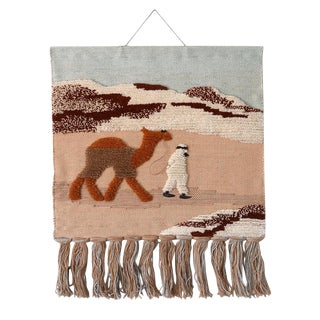 1970s Vintage Habitat Terence Conran Desert Scene Macrame Wall Hanging For Sale