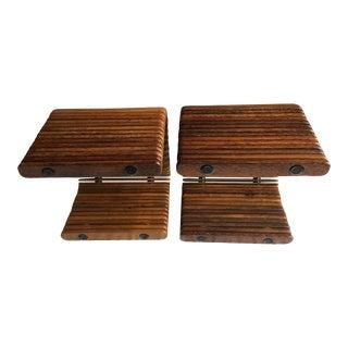 1990s Asian Modern Hawaiian Palmwood Tables - a Pair For Sale