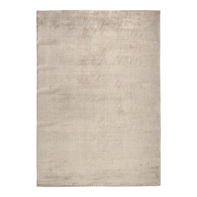 """Wyllis Hand loom Viscose Silver Rug-14'x18"""" For Sale"""