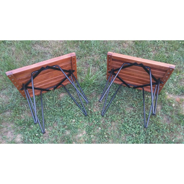 1950s Mid-Century Modern Pipsan Saarinen Swanson Side Tables - a Pair For Sale - Image 6 of 7