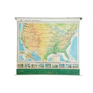 Vintage Rand McNally Usa Pull Down Map