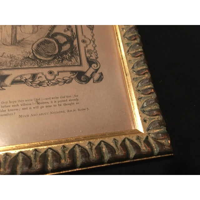 Mid-1800s English Engraving by William Luson Thomas, of Shakespeare's Dogberry and Verges, Framed For Sale - Image 10 of 13