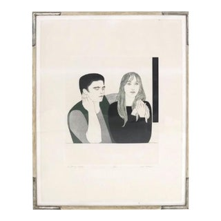 "Will Barnet ""The Young Couple"" Etching For Sale"