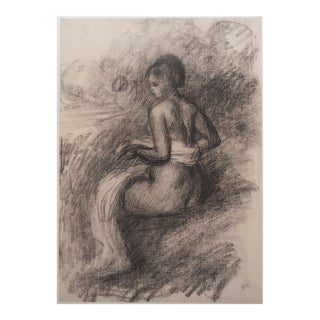 Renoir After the Bath, Large 1959 Lithograph