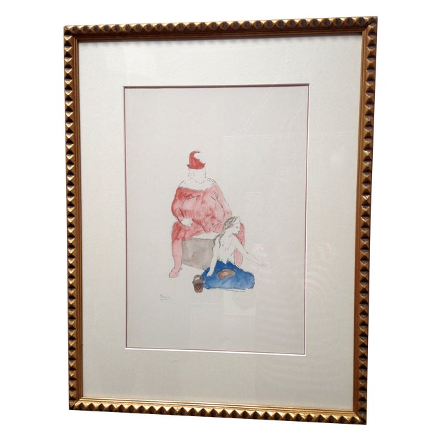 Pablo Picasso Harlequin and Boy Lithograph - Image 1 of 6
