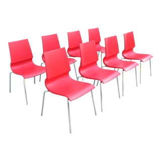 Modern Italia Marco Maran for Maxdesign Ricciolina Dining Chairs - Set of 8 For Sale