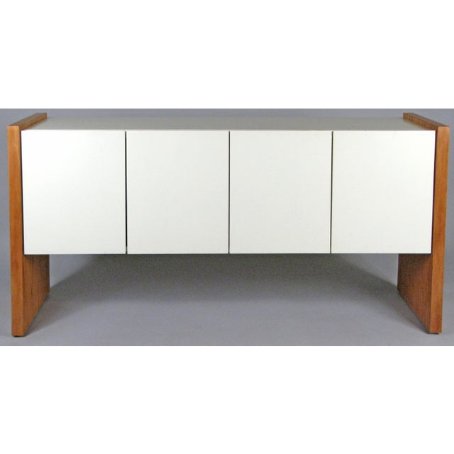 Vintage Milo Baughman for Thayer Coggin Walnut & Lacquered Cabinet For Sale - Image 10 of 10