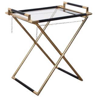 Italian Folding Tray Table in Brass
