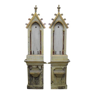 French 19th Century Gothic Architectural Salvage Elements - a Pair