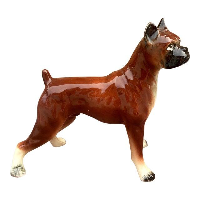 1950s Vintage Boxer Dog Figurine - Image 1 of 5