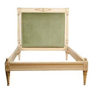 1950s French Louis XVI Style Painted Bedframe For Sale