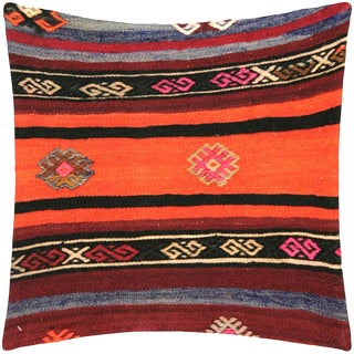 "Nalbandian - Turkish Kilim Pillow - 19"" X 19"" For Sale"