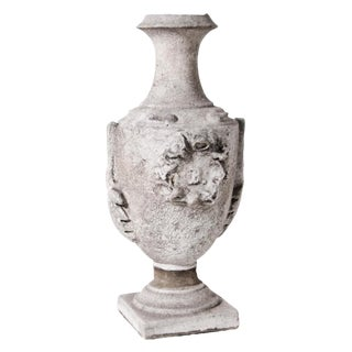 19th Century Victorian Cast Stone Urn For Sale