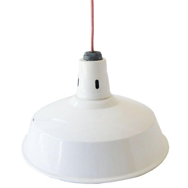 Porcelain Enamel Pendant Lamps - A Pair - Image 2 of 2