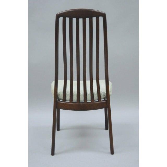 Brown Vintage Dyrlund Mid Century Danish Modern Teak Dark Wood Dining Side Chair For Sale - Image 8 of 11