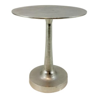 Arteriors Bellamy Silver Leaf Finished Side Table For Sale