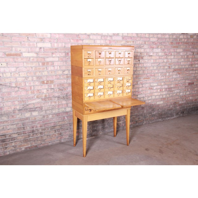 Mid-Century Modern 35-Drawer Library Card Catalog by Remington Rand For Sale In South Bend - Image 6 of 13