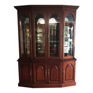 Pennsylvania House Mirror Back China Cabinet For Sale