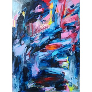 """""""Night Song"""" Contemporary Abstract Expressionist Oil Painting by Monica Shulman For Sale"""
