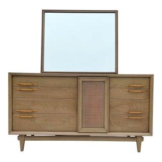Mid-Century Modern Dresser With Mirror by Phenix For Sale