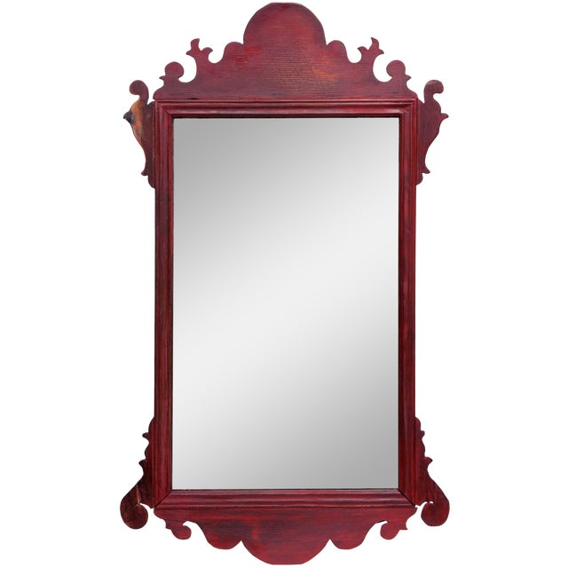 Vintage English Chippendale Mirror For Sale