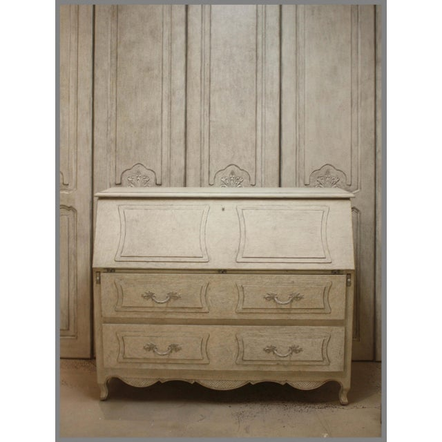 Swede Collection French Gray Secretary Desk For Sale - Image 4 of 5