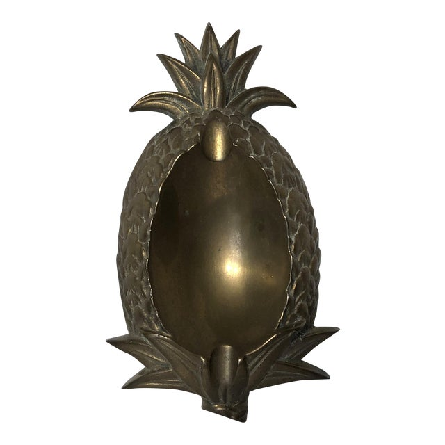 Vintage Brass Pineapple Ashtray - Image 1 of 4