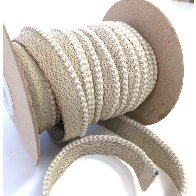 """2010s Braided 1/8"""" Indoor-Outdoor Cord in White & Cream For Sale - Image 5 of 7"""