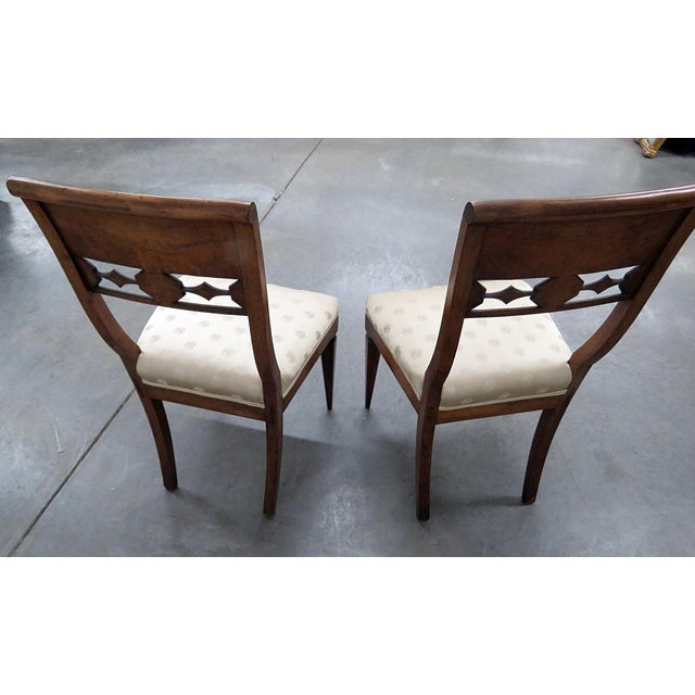 Blue Early 20th Century Antique Austrian Side Chairs- A Pair For Sale - Image 8 of 9