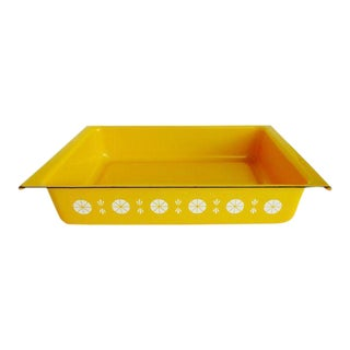 Yellow CathrineHolm Enamel Baking Pan