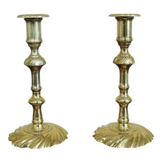 Pair Virginia Metalcrafters Colonial Williamsburg Cw-16-10 Brass Candlesticks For Sale