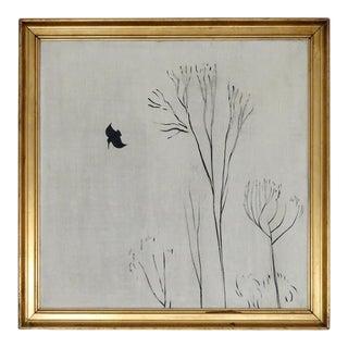 """1924 """"Komposition"""" Minimalist Landscape Oil Painting by Ernst Hansen, Framed For Sale"""