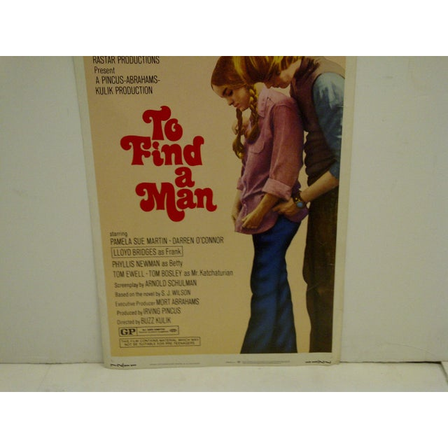 """1971 Vintage Movie Poster of """"To Find a Man"""" For Sale - Image 5 of 6"""