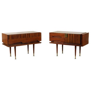 1960s Mid-Century Modern Vittorio Dassi Side Tables - a Pair For Sale