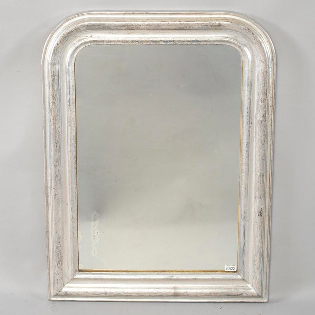 Modern 19th Century Louis Philippe Silver Gilt Mirror For Sale - Image 3 of 12