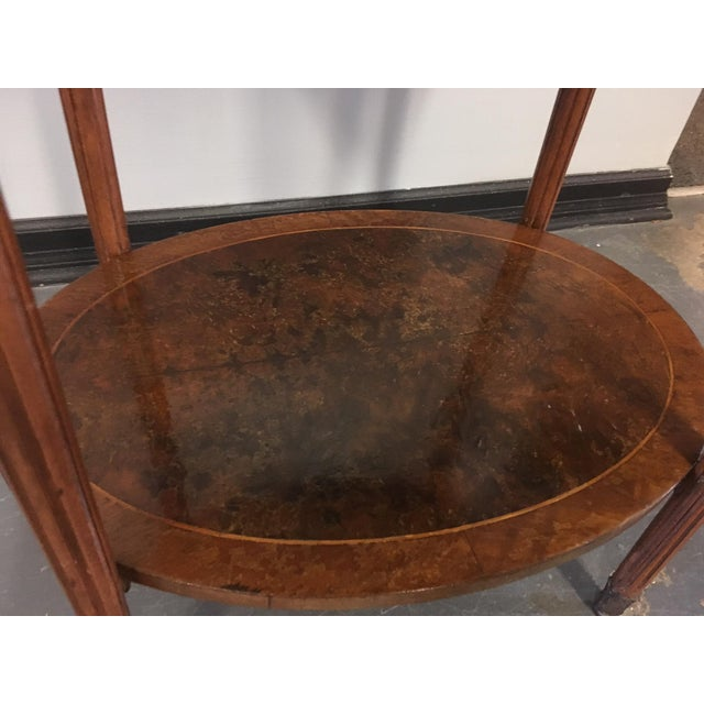 1900s French Oval Side Table With Marble Top For Sale - Image 9 of 13