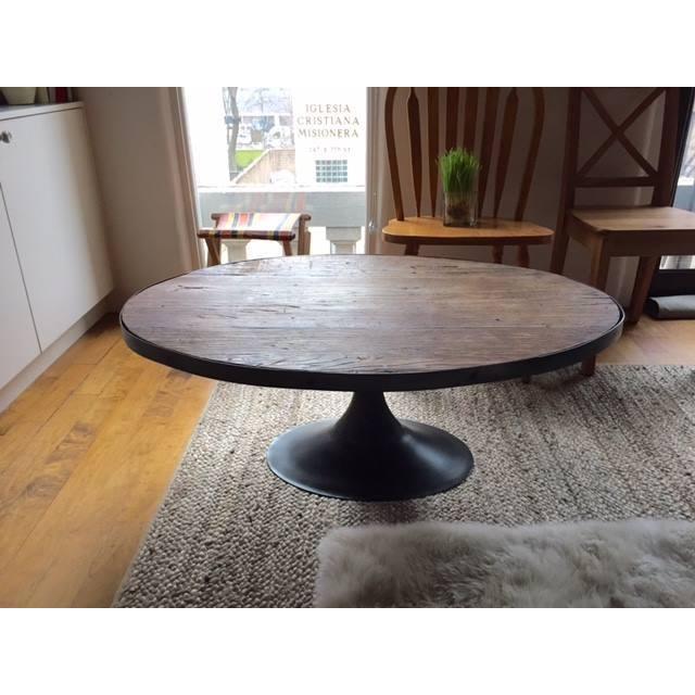 Restoration Hardware Aero Oval Coffee Table - Image 2 of 6