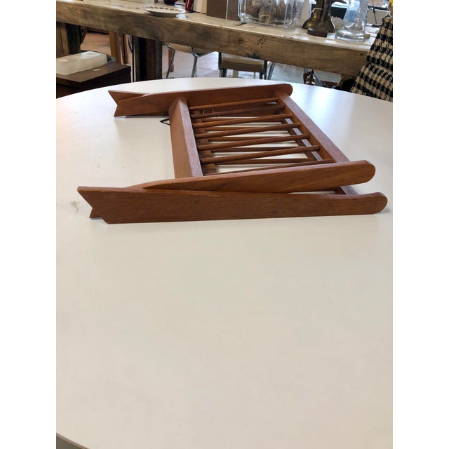Mid Century Modern Folding Rosewood Danish Magazine Rack For Sale In Charleston - Image 6 of 7