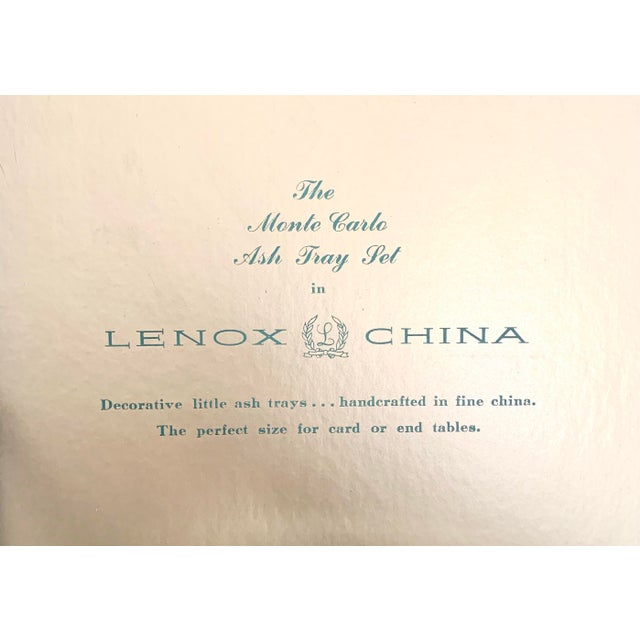 Late 20th Century Vintage Lenox Monte Carlo Card Theme Plates - Set of 4 For Sale - Image 5 of 9