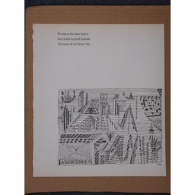 Vintage Klee Mid 20th C. Abstract Lithograph - Image 2 of 3