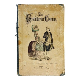 1880 History of Costume in German Book For Sale